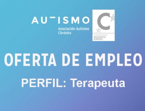 OFERTA EMPLEO: perfil terapeuta para intervención directa con niños/as con TEA en Atención Temprana